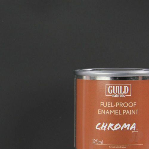 Guild Materials Matt Black Enamel Fuel-Proof Paint  (125ml Tin) GLDCHR6303